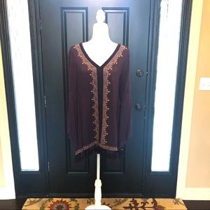 Jodifl long sleeve tunic shirt M Purple